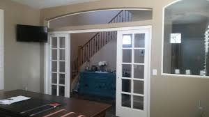 Interior Arched French Doors by Installation Of Four French Sliding Doors System