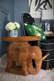 elephant living room wicker elephant table eclectic living room furbish studio