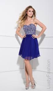 sequin blue short prom dress 2015 lustyfashion
