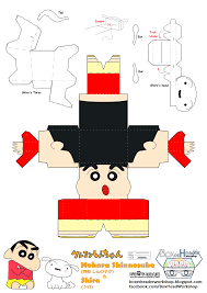 sinchan figuras de papel de shin chan blogodisea