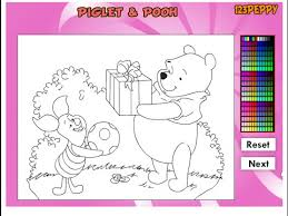 online coloring page winnie the pooh coloring pages disney online coloring pages for
