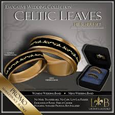 his and rings set second marketplace his hers celtic leaves wedding ring