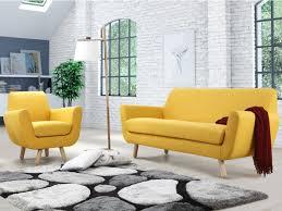 canap et fauteuils canapé ou fauteuil en tissu gris jaune ou traviata