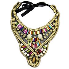 beaded collar necklace jewelry images Manilai indian style handmade choker multicolor candy beads collar jpg