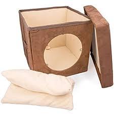 amazon com original zen den cat hideaway ottoman by easyology