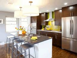 Galley Kitchens With Island - design a galley kitchen layout laminate mahogany wood flooring