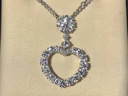necklace diamond gold images Chopard diamond gold heart pendant necklace fortitude estate jewelry jpg