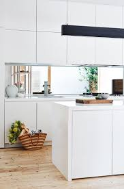 kitchen backsplash splashback ideas mirror tile backsplash