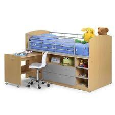 Single Bunk Bed With Desk Metal Bunk Bed With Desk Ebay