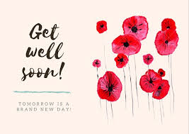 get well soon cards flowers get well soon card templates by canva