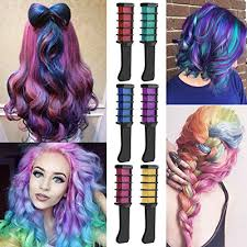 coosa 6pcs hair chalk disposable instant lasting comb dye shimmer