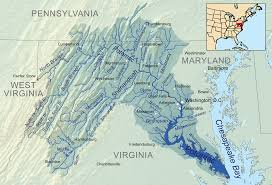 america map with rivers potomac river american rivers