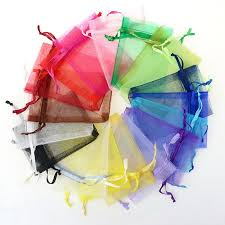 small organza bags wholesale 100pcs lot drawable white small organza bags 7x9cm favor
