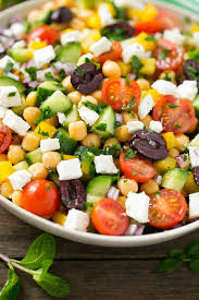 Garden Vegetable Salad by Chopped Greek Salad Dinner At The Zoo