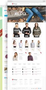 mango responsive ecommerce html5 template from 8theme ltd