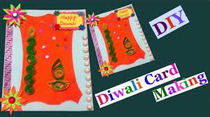 easy diwali card making idea for kids diy diwali card making how