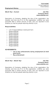 how to write responsibilities in resume how to write a resume for a job with sponsorship for australia australian resume sponsorship page 2