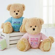 Engraved Teddy Bears Personalized Teddy Bears For Babies Baby Birth Info