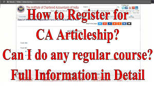 Resume For Ca Articleship Training How To Register For Articleship Training Of Icai Can I Do Any