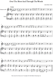 the river and through the woods thanksgiving song sheet