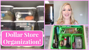 dollar store organization ideas youtube