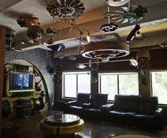 Steampunk Bar Stools Steampunk Bar Stools In Modern Victorian Kitchen Of Craftsman