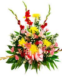 funeral floral arrangements basket floral arrangement 3 memorial pines cemetery