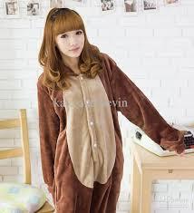 brown costume men women brown chipmunk costume kigurumi animal hoodies