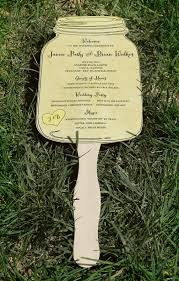 jar wedding programs jar paddle fan wedding program set of 25 choose your