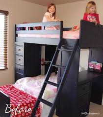 Kids Bunk Bed Desk Who Knew That This Annoying Space Could Turn Into Such A Fun Bunk