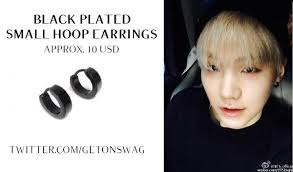 bts earrings beyond the style on twitter suga bts 150905 weibo suga earrings