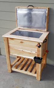 rustic cedar fence picket deck porch cooler icebox by scooter