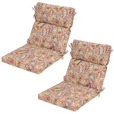 Plantation Patterns Seat Cushions by Chili Paisley Outdoor Dining Chair Cushion 2 Pack 7718 02229200