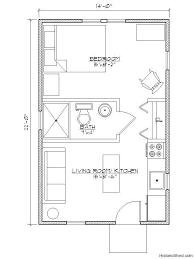 shed homes plans 14 x22 narrow one bedroom one bath cottage 308 sf by historic