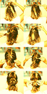 how to braid short hair step by step how to french braid short hair step by step