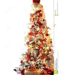 red christmas tree christmas lights decoration