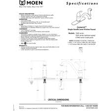 Installing Moen Kitchen Faucet Moen 7840 Camerist Chrome One Handle With Sidespray Kitchen