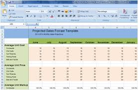 Sales Forecast Spreadsheet Exle by Projected Sales Forecast Template Excel Xls Free Project
