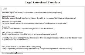 free legal letterhead templates