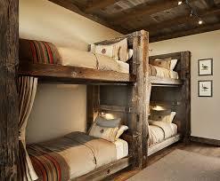 Wooden Bunk Beds Rustic Wood Bunk Beds 5598