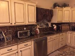 Rustoleum For Kitchen Cabinets We Used Trim On The Cabinet Doors Back Splash Panels And