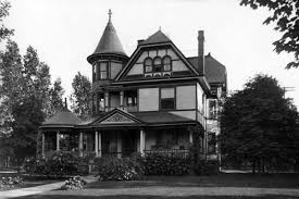 black victorian house great victor reyes black and white