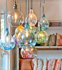 multi colored hanging lights chandelier astonishing colored glass chandelier colored crystal