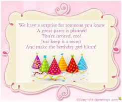 girls birthday invitation wording dgreetings com