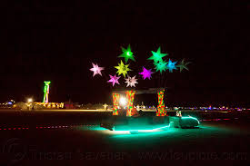 Windart Burning Man Glowing Art Car With Color Stars Cool Wind