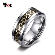 aliexpress buy vnox 2016 new wedding rings for women aliexpress buy vnox tungsten rings for men of david