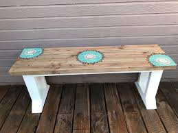 diy farmhouse bench with stenciled design pinspiration mommy