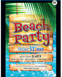 summer beach flyer bundle party flyer templates for clubs