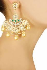 danglers earings dangler earrings gold plated polki danglers pernia s