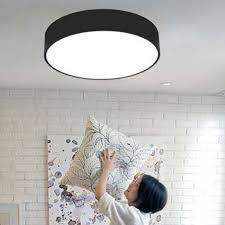 Led Bedroom White Round Ceiling - remote control black white brief led ceiling light dia 25 78cm